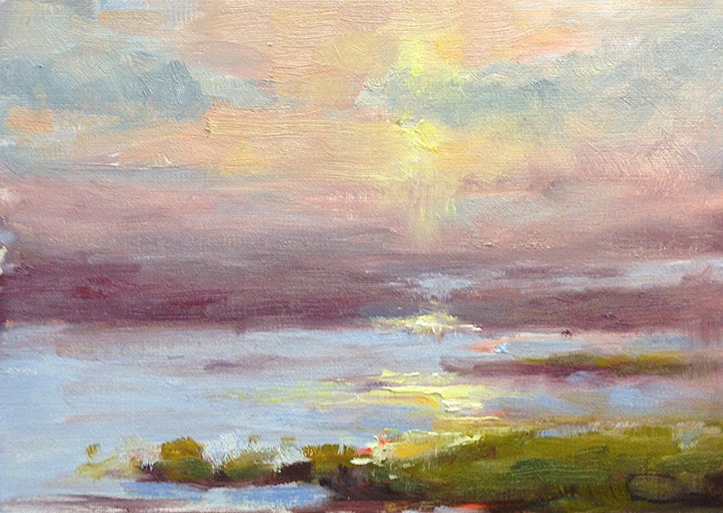 """Study of the Marshes"" original fine art by Fine Art of René"