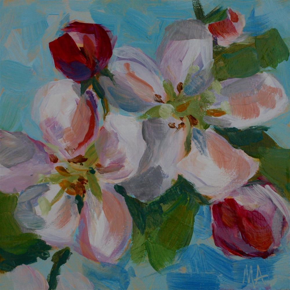 """Crabapple Blossom"" original fine art by Aniko Makay"