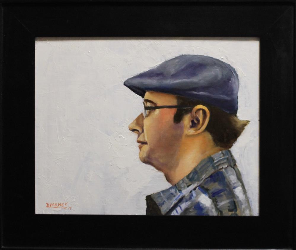 """Man with hat"" original fine art by Daniel Varney"