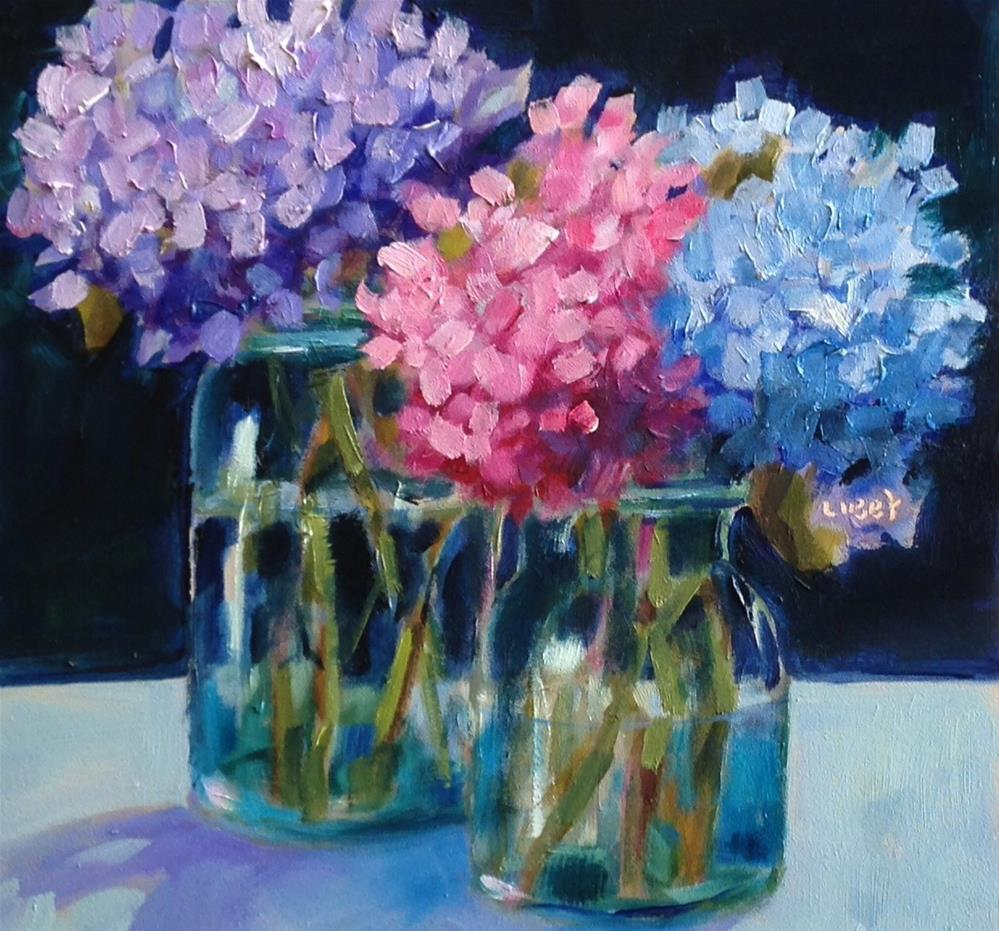 """Late Hydrangeas"" original fine art by Libby Anderson"
