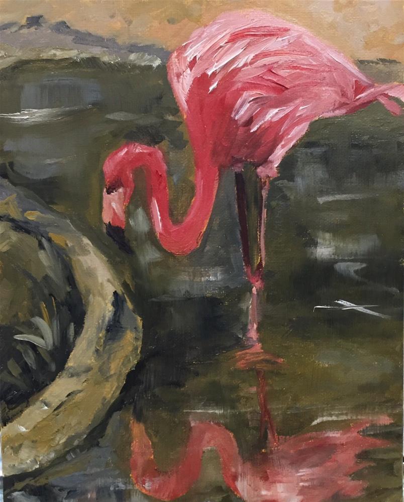 """Regal in Pink"" original fine art by Renee Robison"