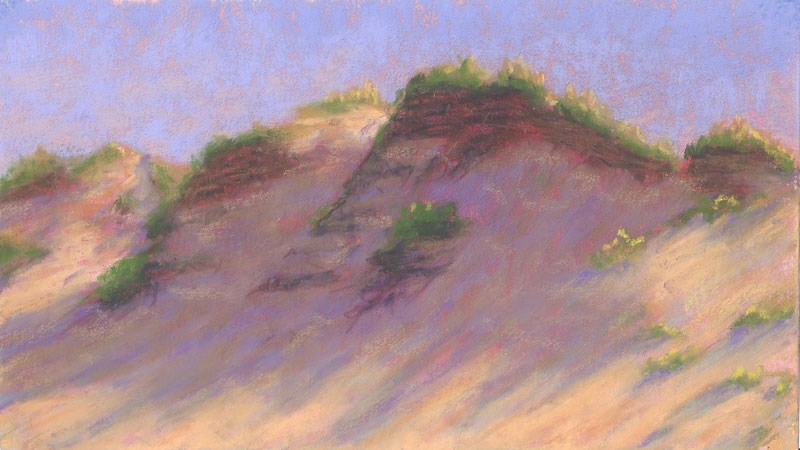 """Dune Shadow"" original fine art by Nancy Poucher"