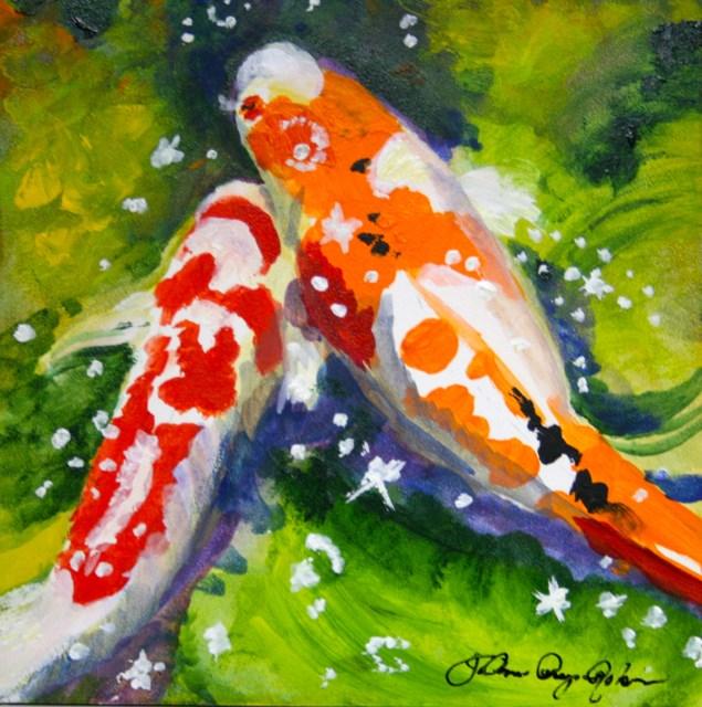 """Phishes"" original fine art by JoAnne Perez Robinson"
