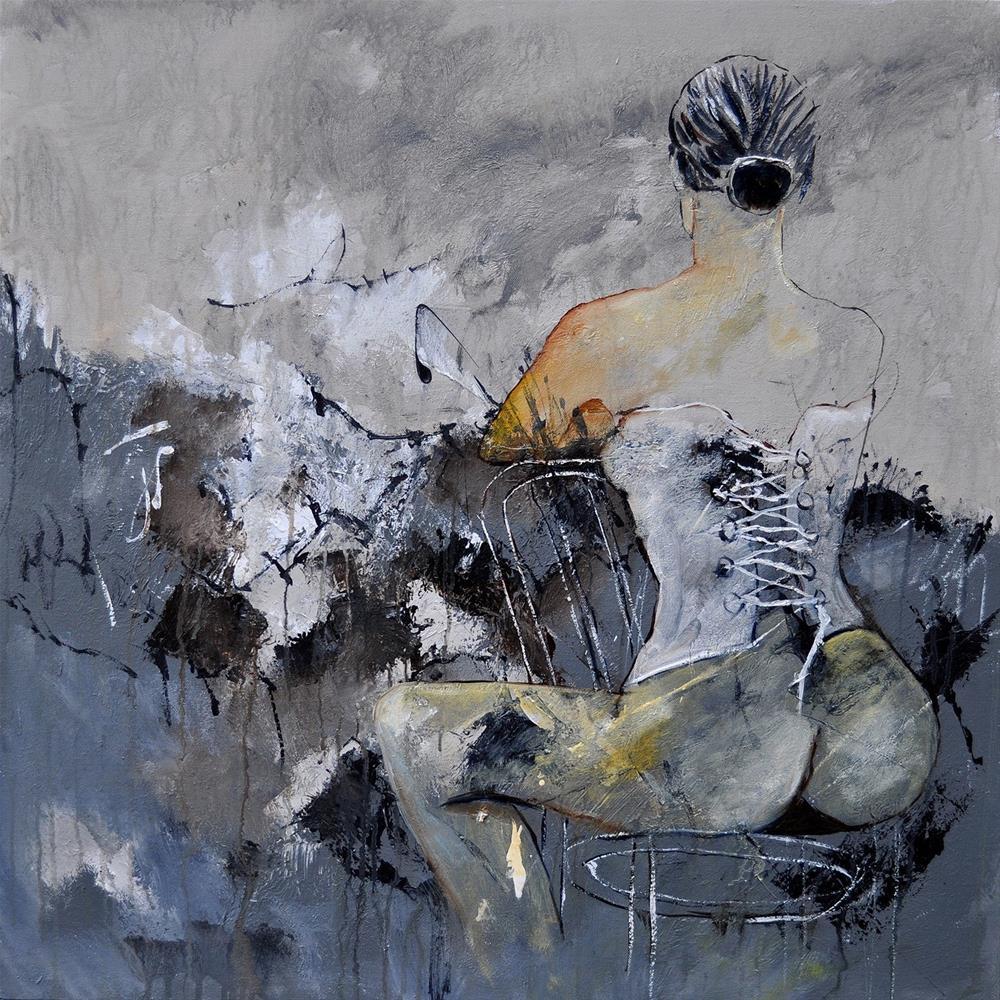 """""""In the boudoir 8831"""" original fine art by Pol Ledent"""