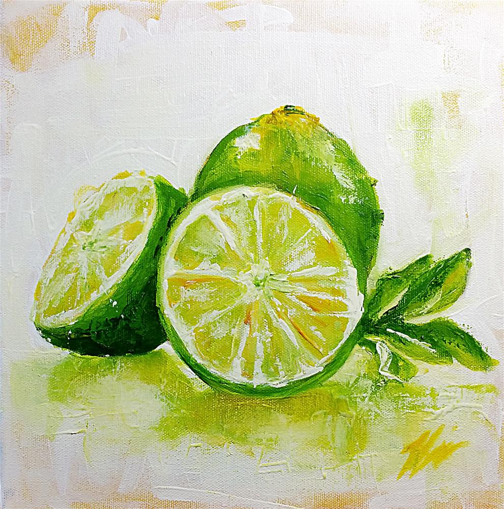 """Limes No. 3"" original fine art by Jeff Hamachek"