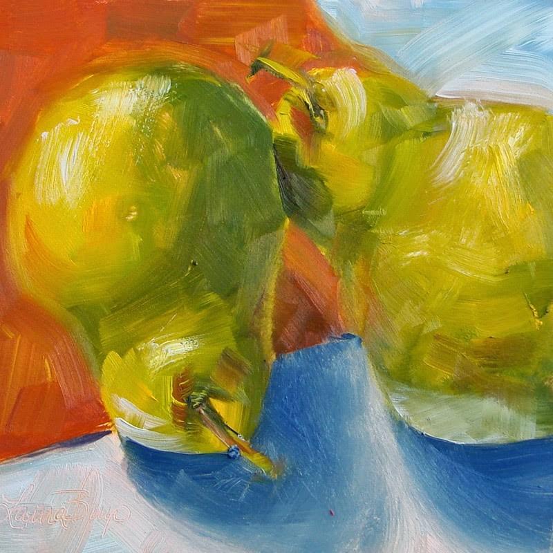 """Last Pears - 208"" original fine art by Laura  Buxo"