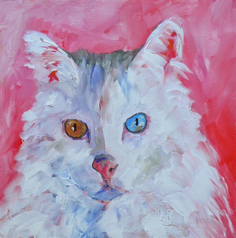 """LEO 4/100 OF THE 100 PET PORTRAITS IN 100 DAYS © SAUNDRA LANE GALLOWAY"" original fine art by Saundra Lane Galloway"