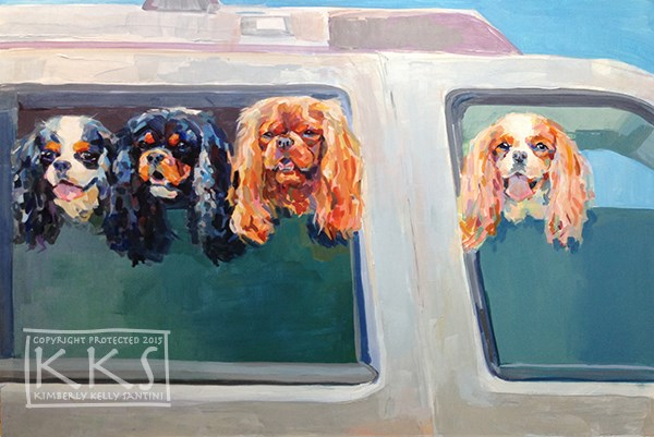"""Family Outing, nearly finished!"" original fine art by Kimberly Santini"
