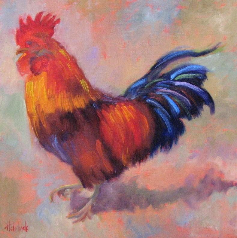 """""""The Strutter"""" original fine art by Pam Holnback"""