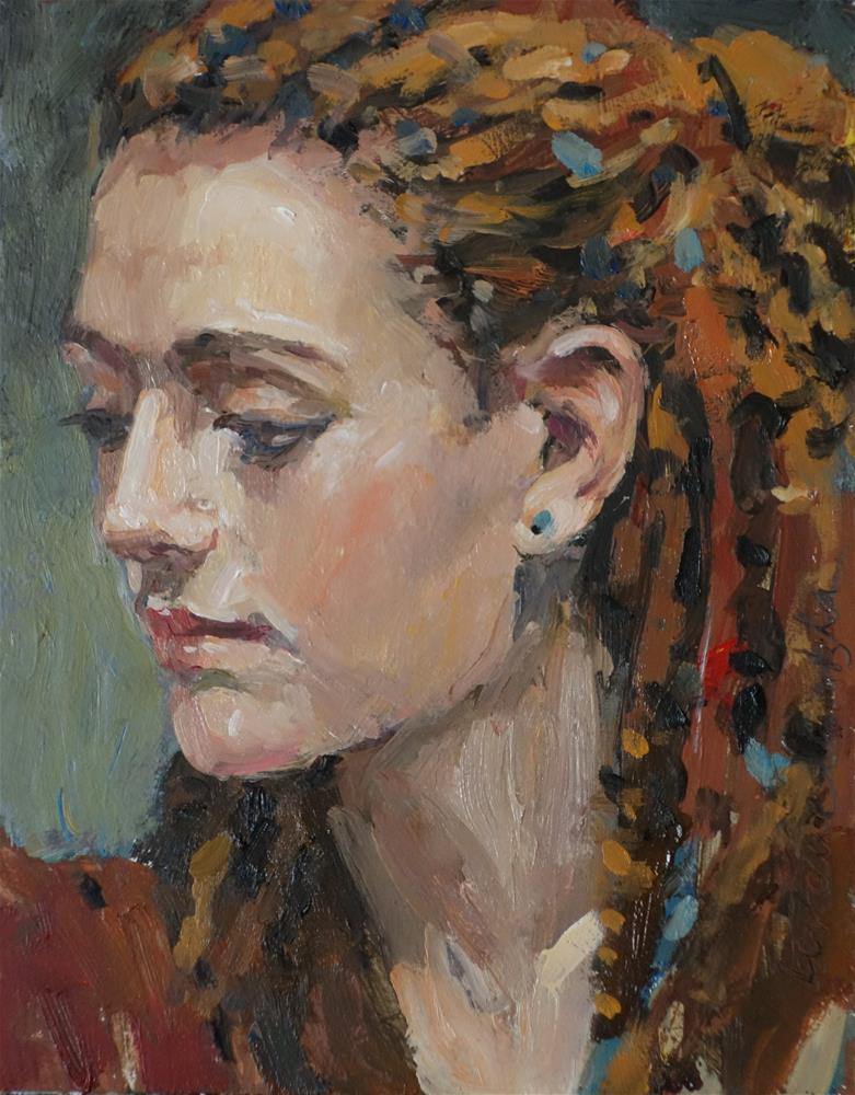 """Earth Girl"" original fine art by Lorraine Lewitzka"
