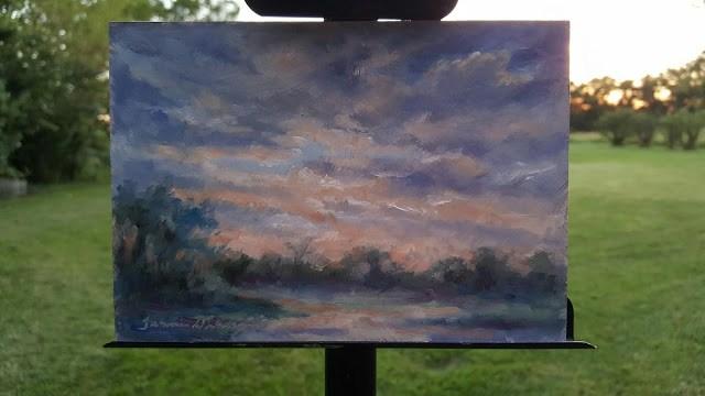 """Sunset Glow"" original fine art by Tammie Dickerson"