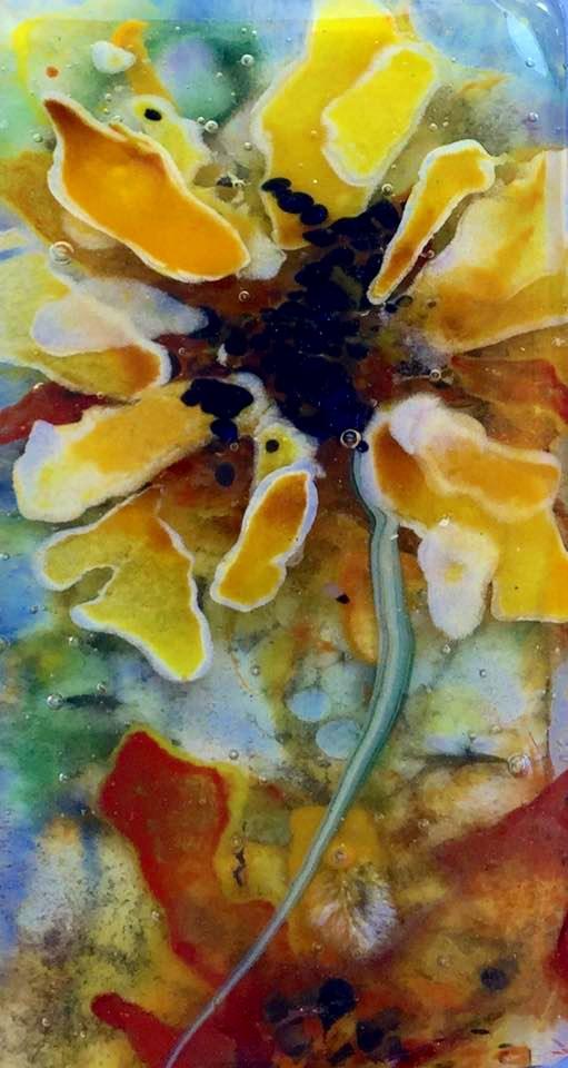"""""""sunflowers deep"""" original fine art by Kristen Dukat"""