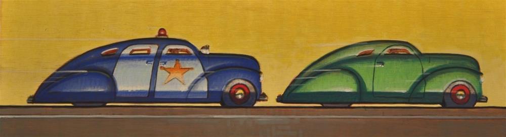 """Cops and Robbers"" original fine art by Robert LaDuke"