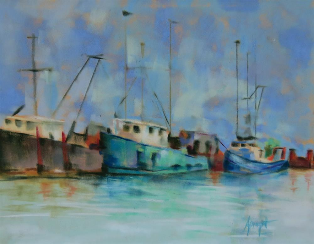 """The Marina"" original fine art by Anne Marie Propst"