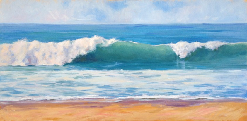 """Ocean Air and Crashing Waves"" original fine art by Deborah Newman"