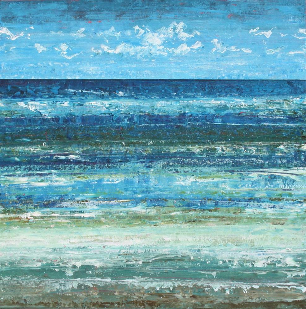 """""""The Sea and Me"""" original fine art by Sage Mountain"""