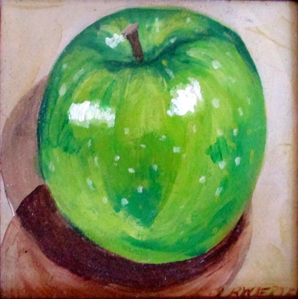 """Small Green Apple"" original fine art by Lisa Wiertel"