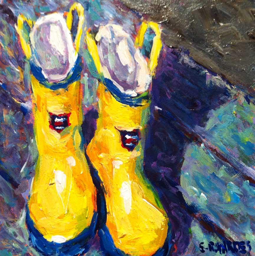 """gumboots"" original fine art by Shelley Garries"