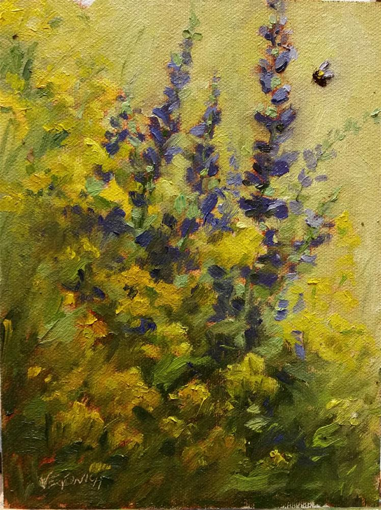 """Wildflowers-en Plein Air"" original fine art by Veronica Brown"