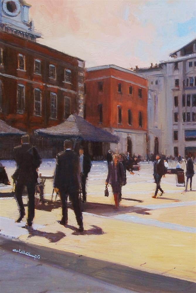 """""""Paternoster Square I"""" original fine art by Adebanji Alade"""