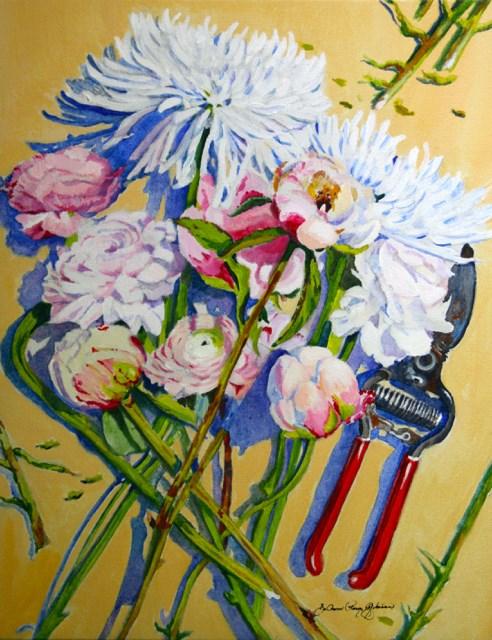 """""""Jennifer's Bouquets"""" original fine art by JoAnne Perez Robinson"""