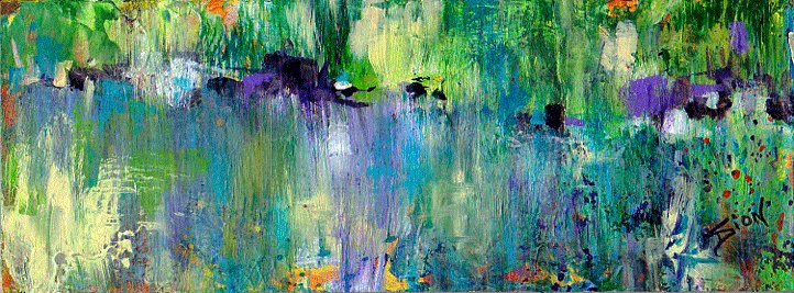 """The Pond"" original fine art by Sue Dion"
