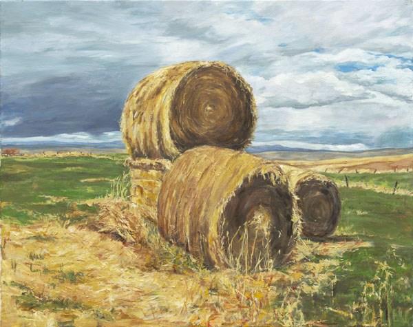"""""""The Barn Tour"""" original fine art by Lucy Hammett"""