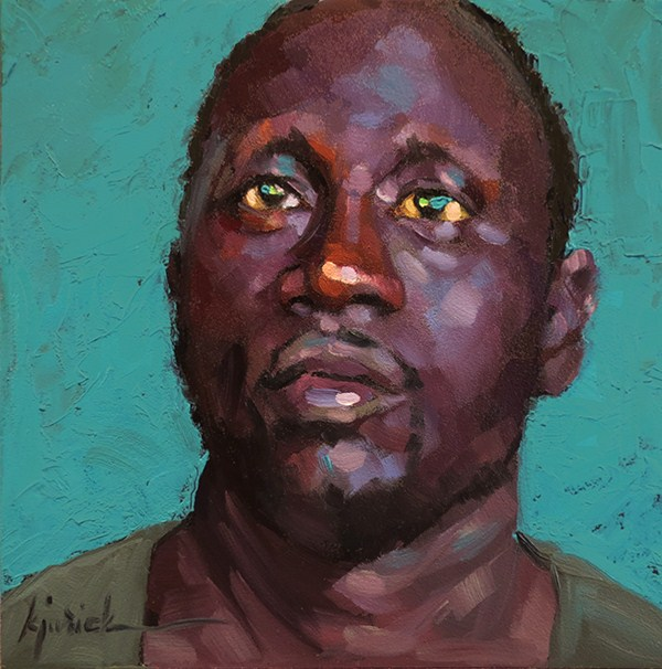 """200 Faces, No. 116"" original fine art by Karin Jurick"