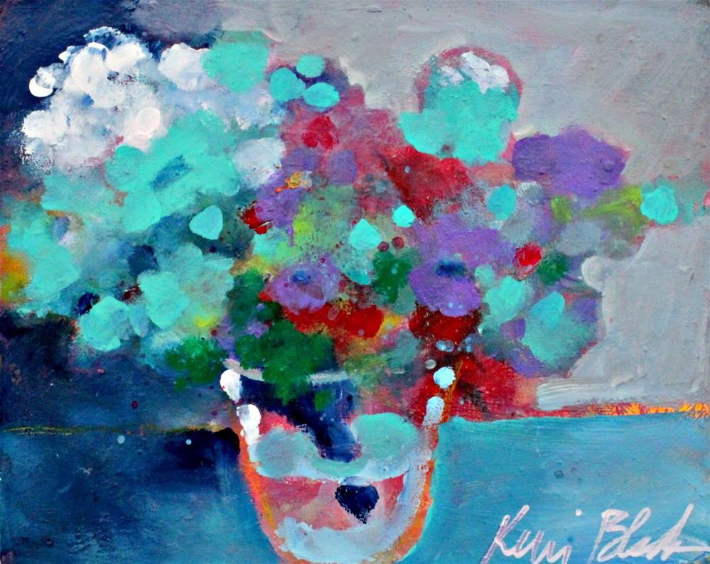 """Blooms in a Vase"" original fine art by Kerri Blackman"