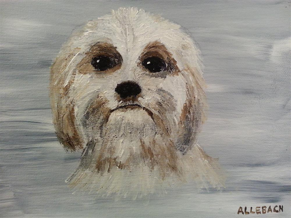 """Max the Dog"" original fine art by Jo Allebach"