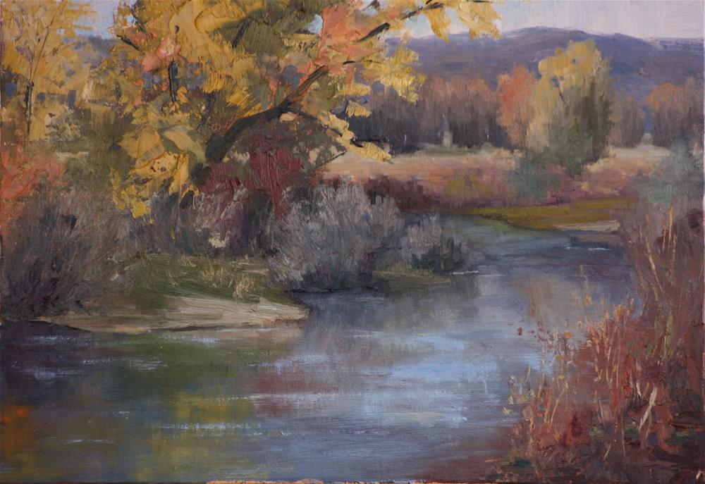 """Perfect Late Fall Day"" original fine art by Sheila Marie"
