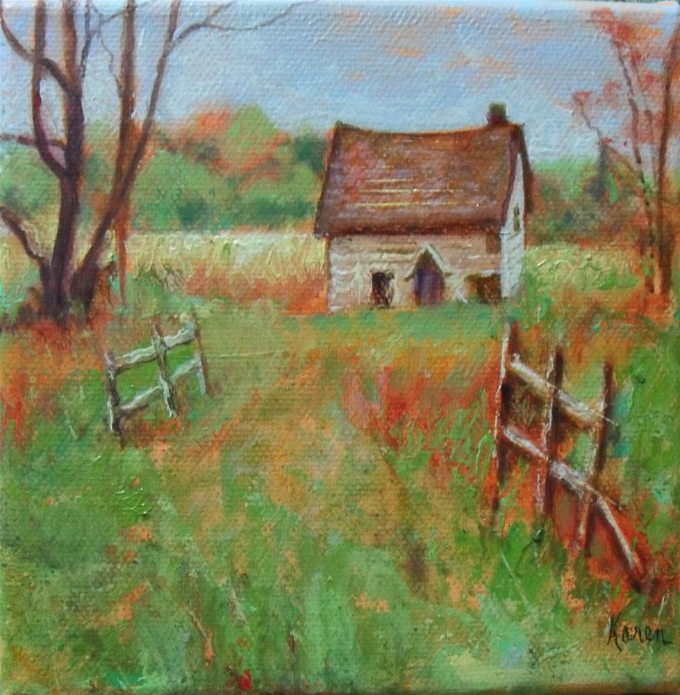 """Forgotten Home"" original fine art by Karen Roncari"