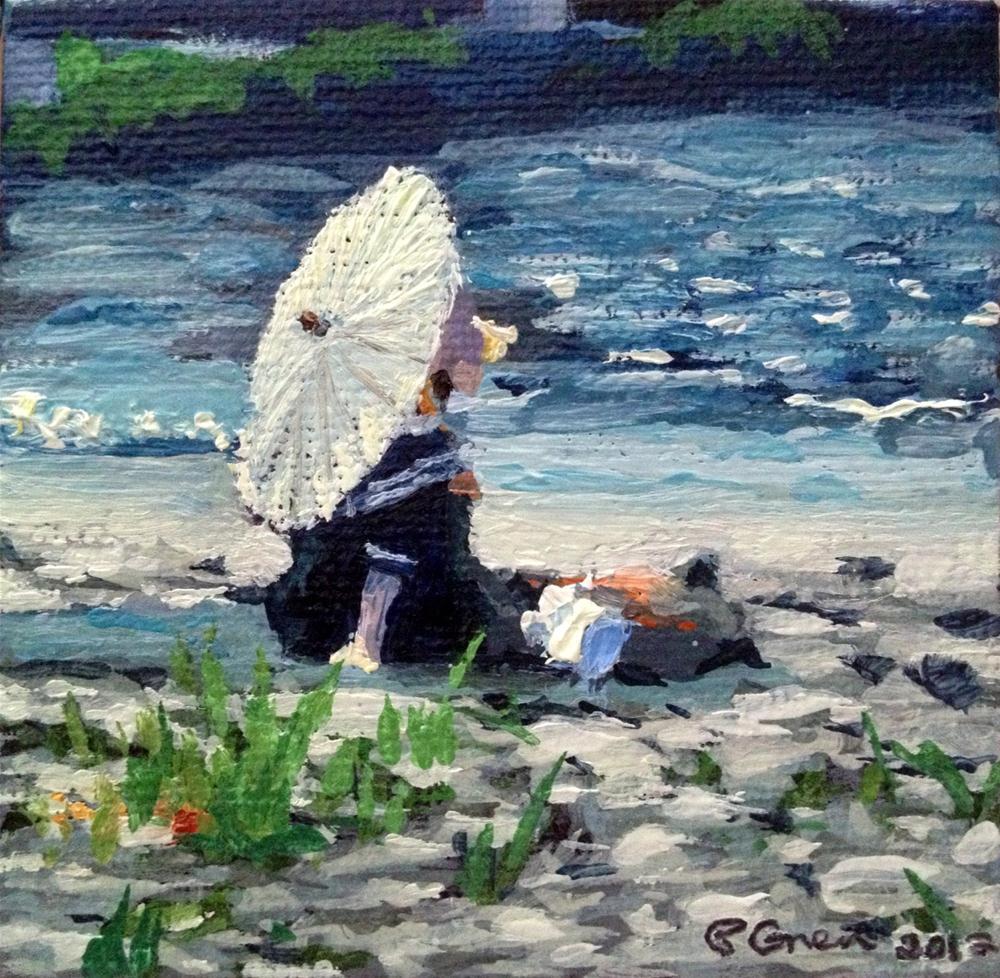 """Bathing Beauty"" original fine art by Paula Howson-Green"