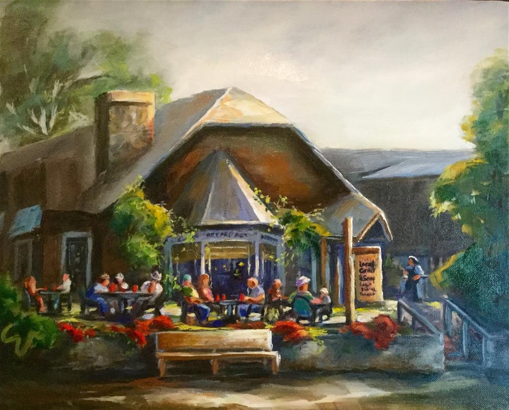 """The Local Grill and Scoop"" original fine art by Sharon Abbott-Furze"