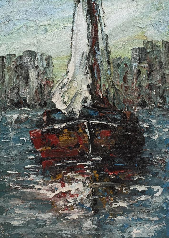 """Alone Again"" original fine art by Ken Fraser"