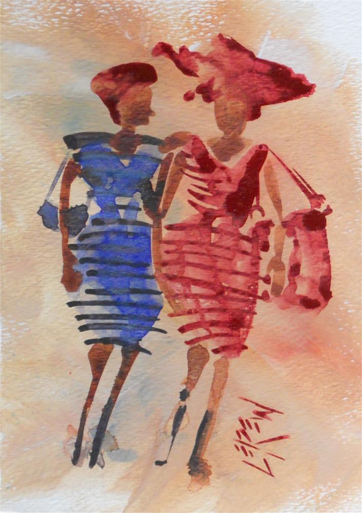 """""""Serendipity Blot Figure #140112 by Larry Lerew"""" original fine art by Larry Lerew"""