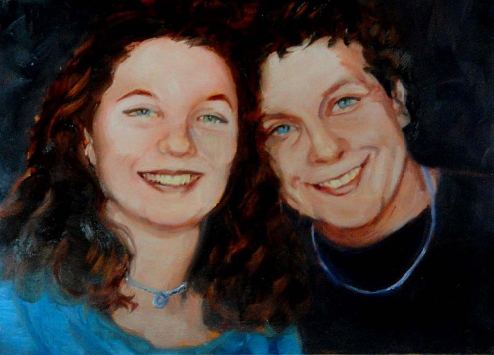 """Commissioned portrait #3"" original fine art by Cietha Wilson"