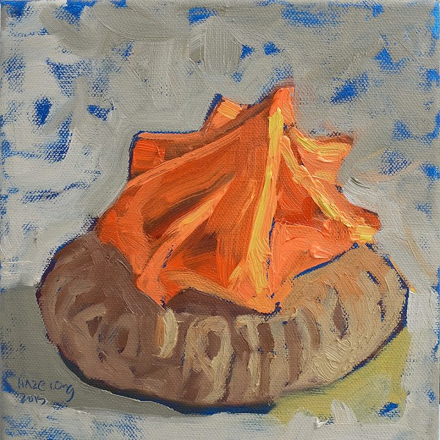 """Orange sugar biscuit"" original fine art by Haze Long"