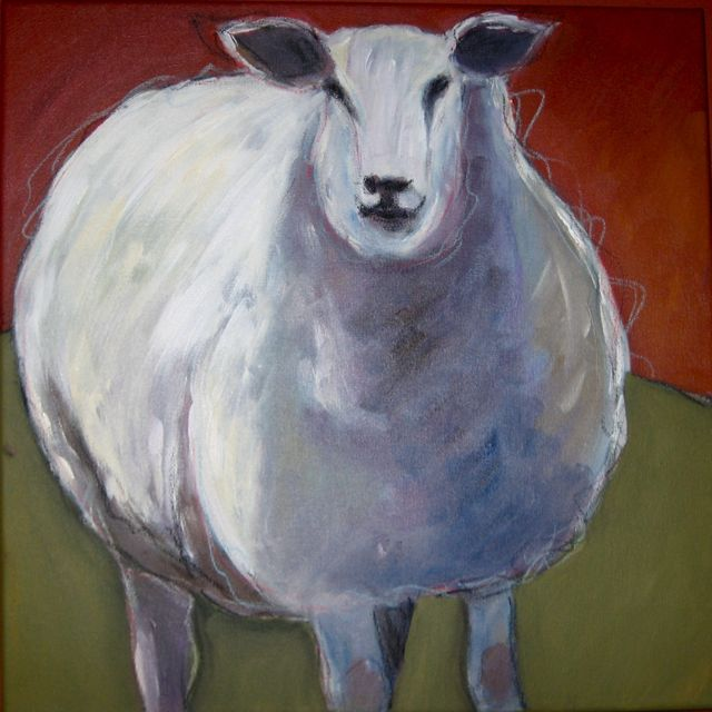 """Wooly Bully"" original fine art by Patricia MacDonald"