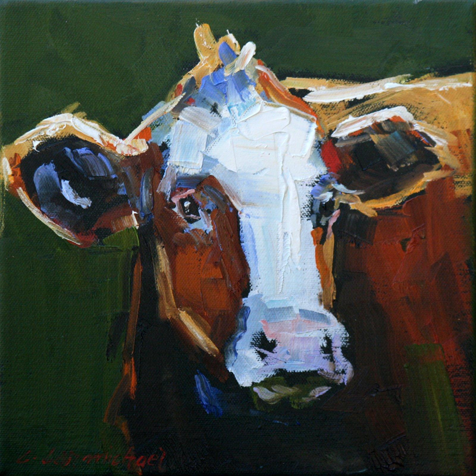 """cowlick"" original fine art by Carol Carmichael"
