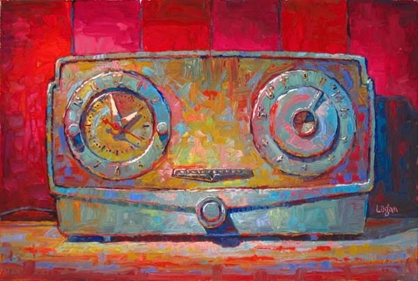 """Westinghouse Clock Radio"" original fine art by Raymond Logan"