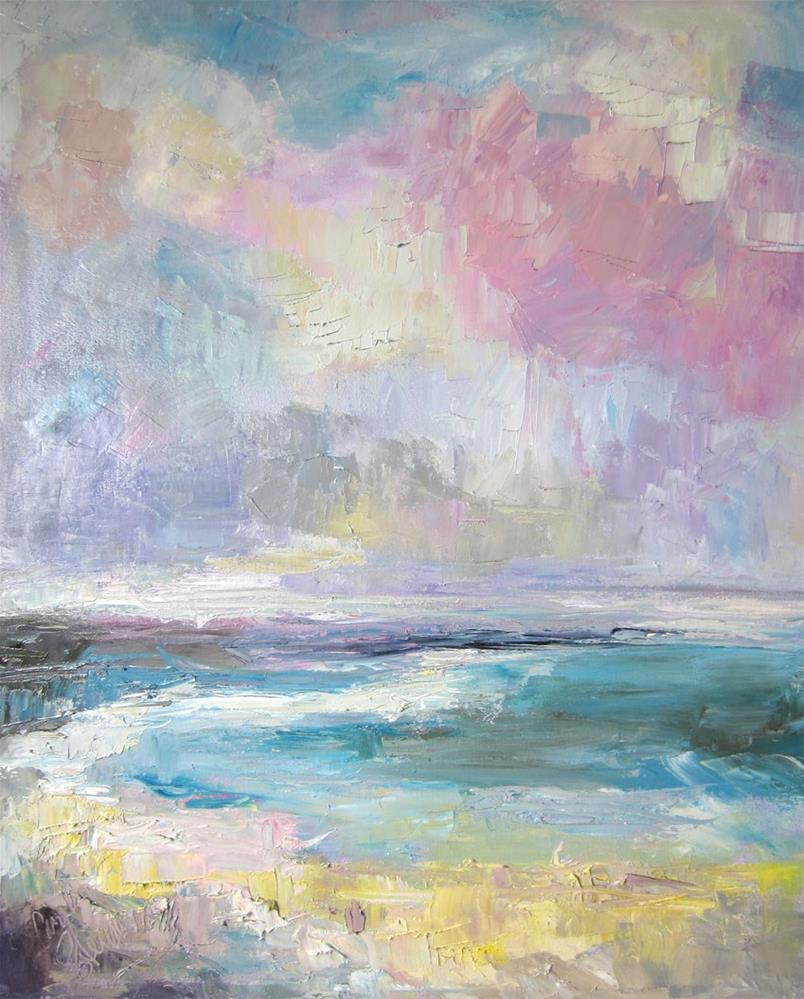 """Cabrillo Twilight I"" original fine art by Carol Steinberg"