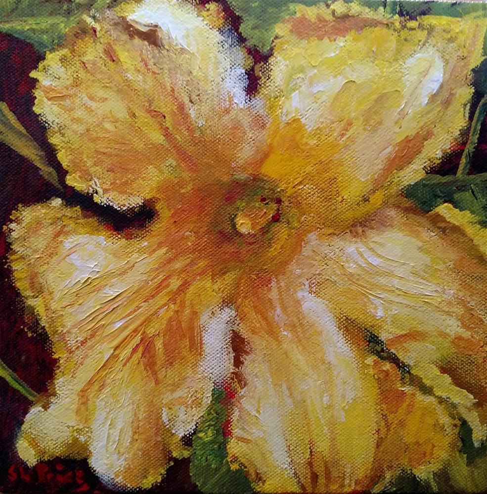 """Showy Gourd Blossom"" original fine art by S. Lynne Price"