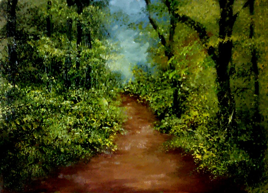 """A Path in the Woods"" original fine art by Bob Kimball"