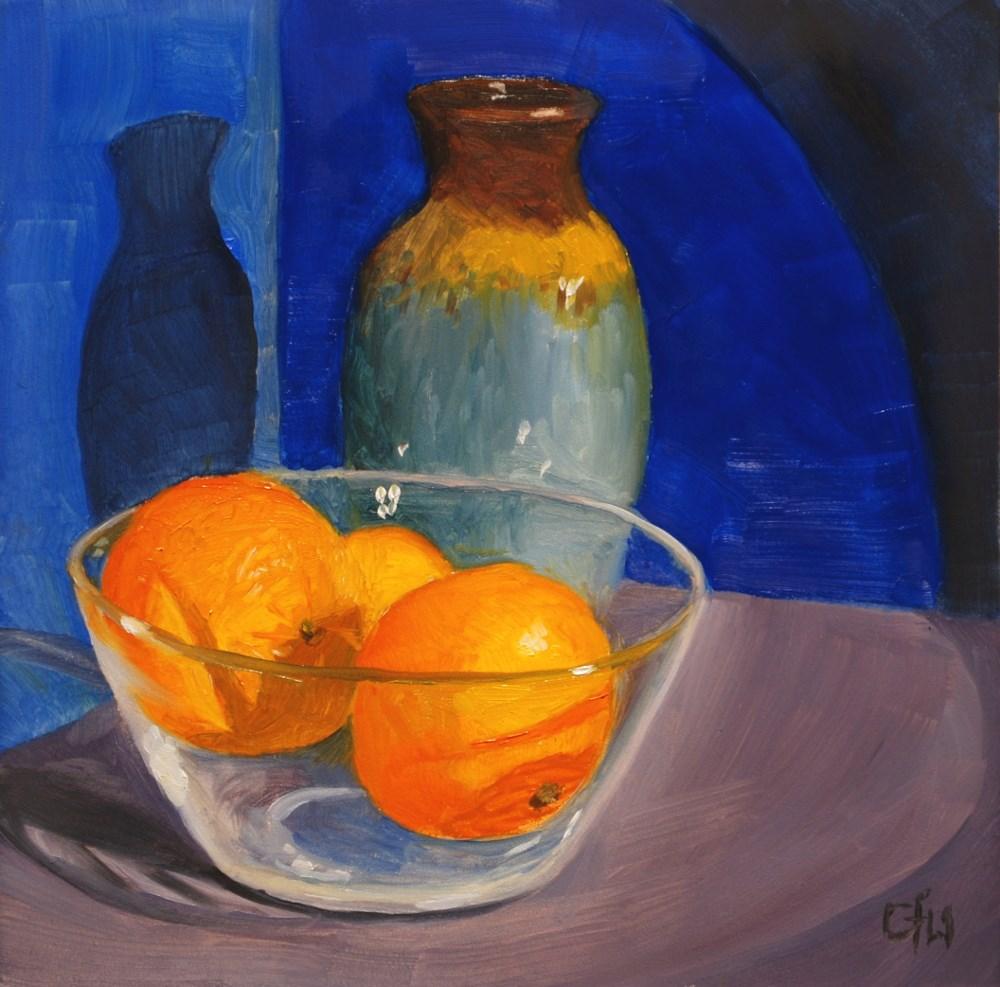 """""""Three Clementines"""" original fine art by Gary Westlake"""