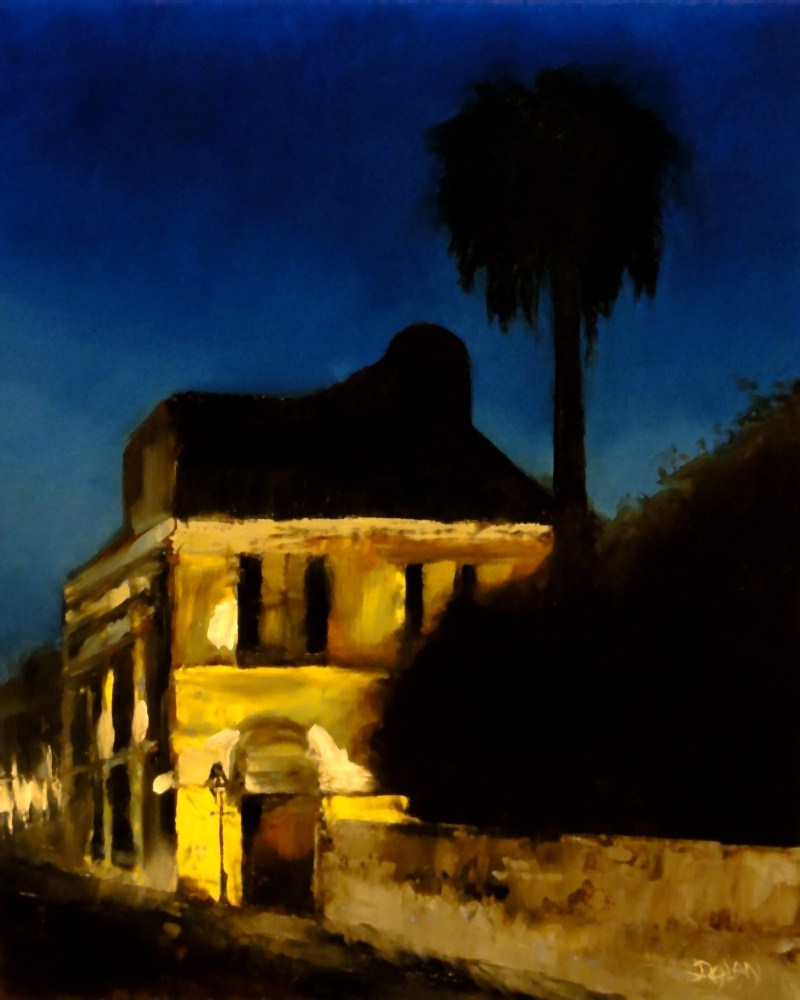 """French Quarter At Night"" original fine art by Dalan Wells"