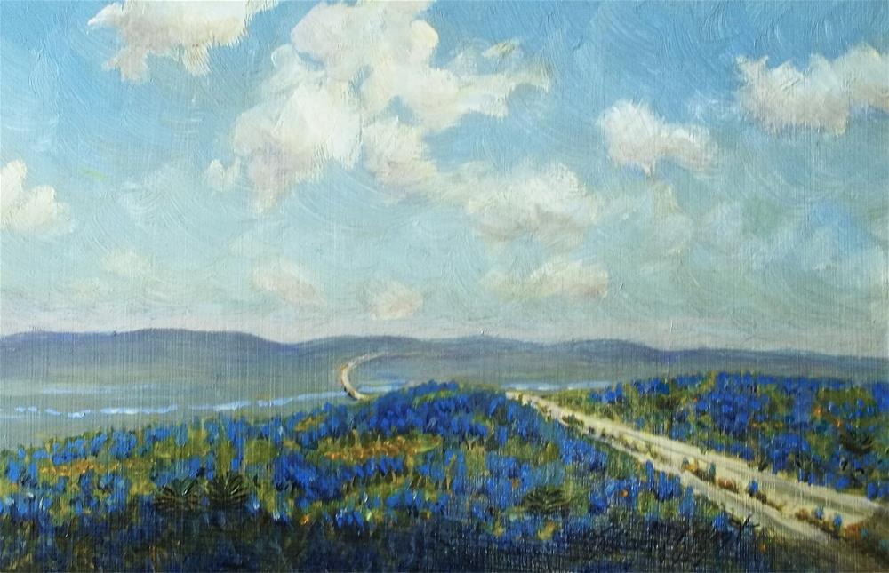 """Bluebonnet Valley"" original fine art by William W. Hoyt"