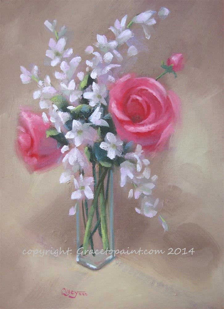"""Centerpiece"" original fine art by Maresa Lilley"