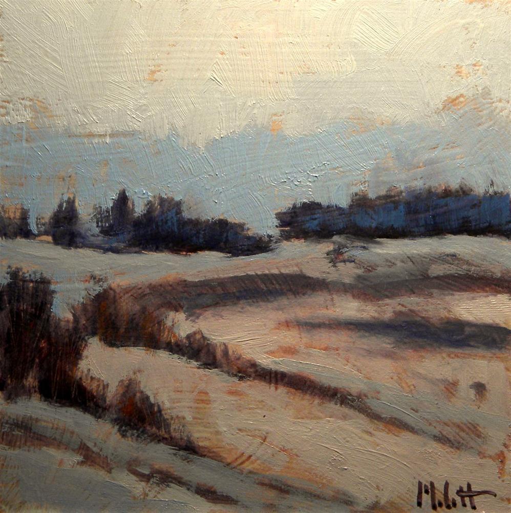 """Winter Oil Painting Frosty Morning Impressionist Landscape"" original fine art by Heidi Malott"