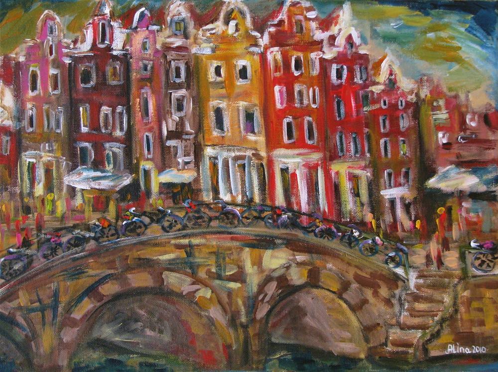 """""""Amsterdam"""" original fine art by Alina Vidulescu"""